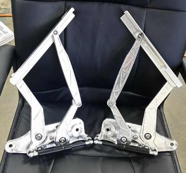 HK, HT & HG Holden Bonnet Hinges - MACHINE FINISH