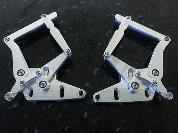 XA - XB Ford Falcon Billet Bonnet Hinges - Machine Finish
