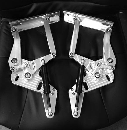 XC FORD FALCON BILLET BONNET HINGES - MACHINE FINISH